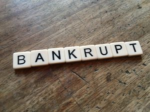 declaring bankruptcy