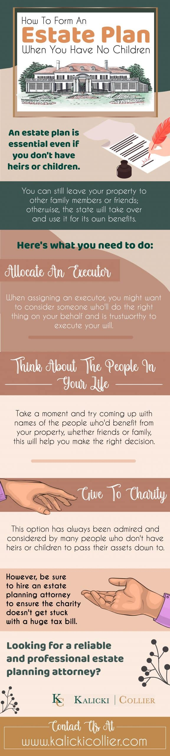 How to form an estate plan when you have no children - Infograph